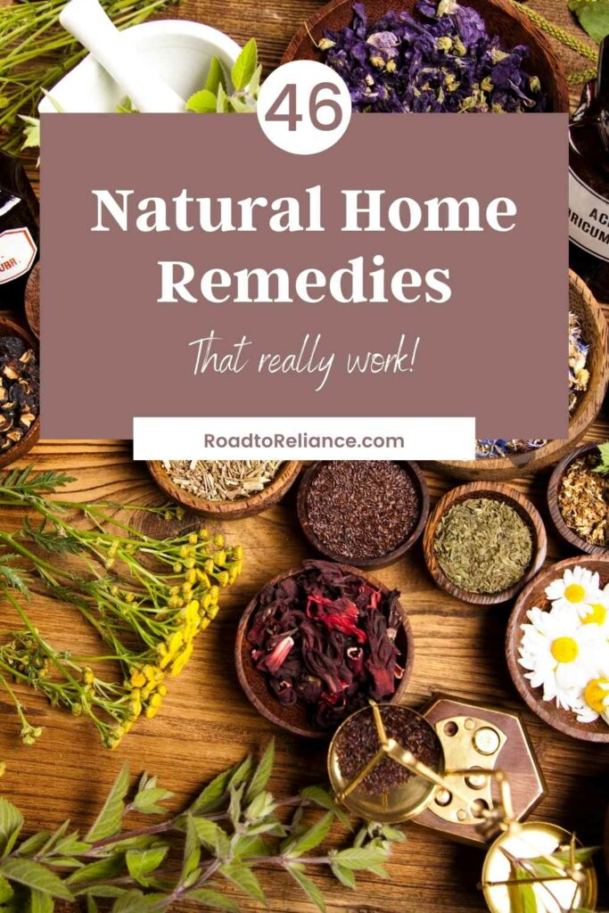 Natural home remedies are becoming more and more the norm. Learn 46 ways to cure some common health issues in this post with items you probably have on hand at home every day.