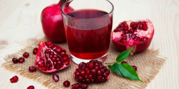 Pomegranate juice is a natural home remedy.